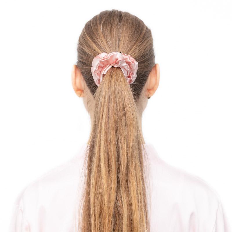 hodvabna scrunchie pink marble