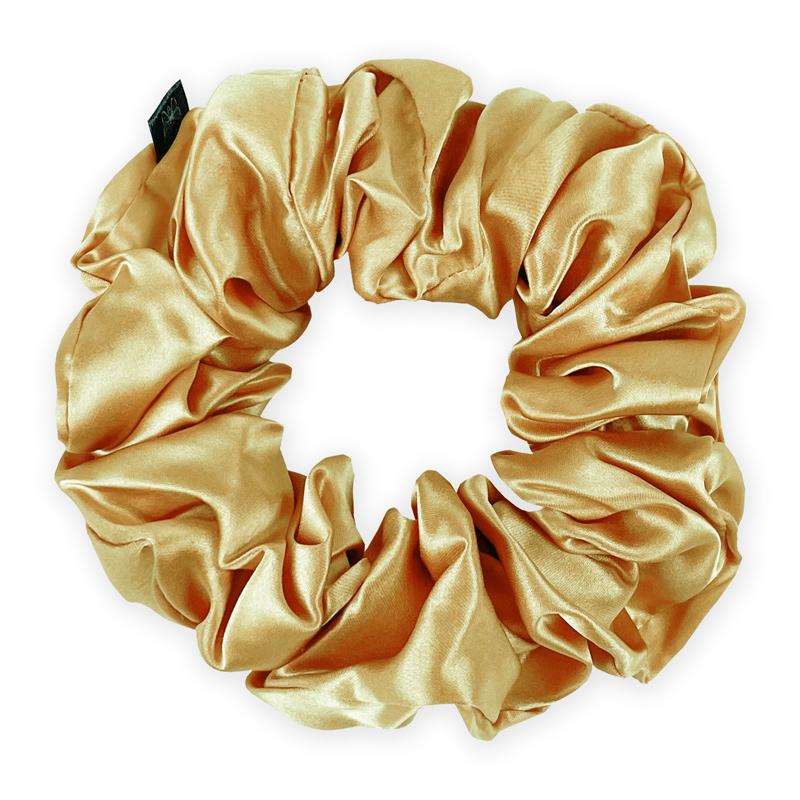 Hodvabna-scrunchies-gold-nugget